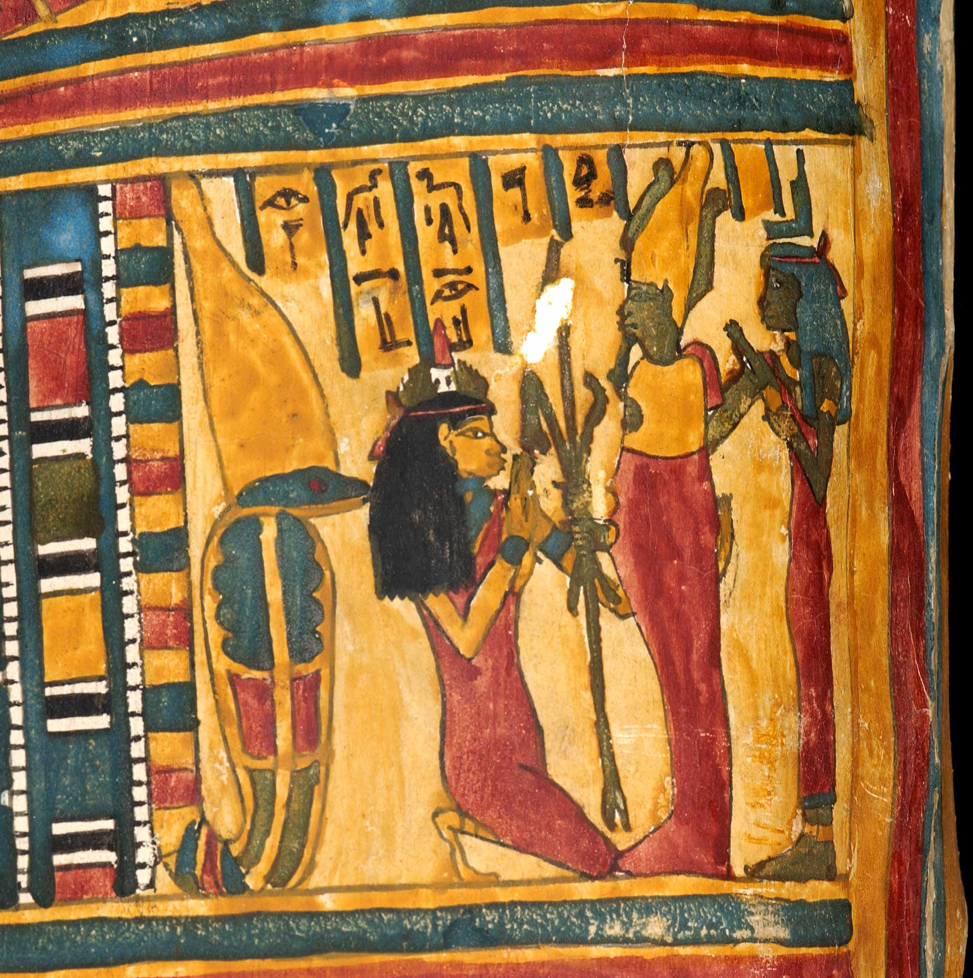 Detail  of the mummycase of Takhenmes
