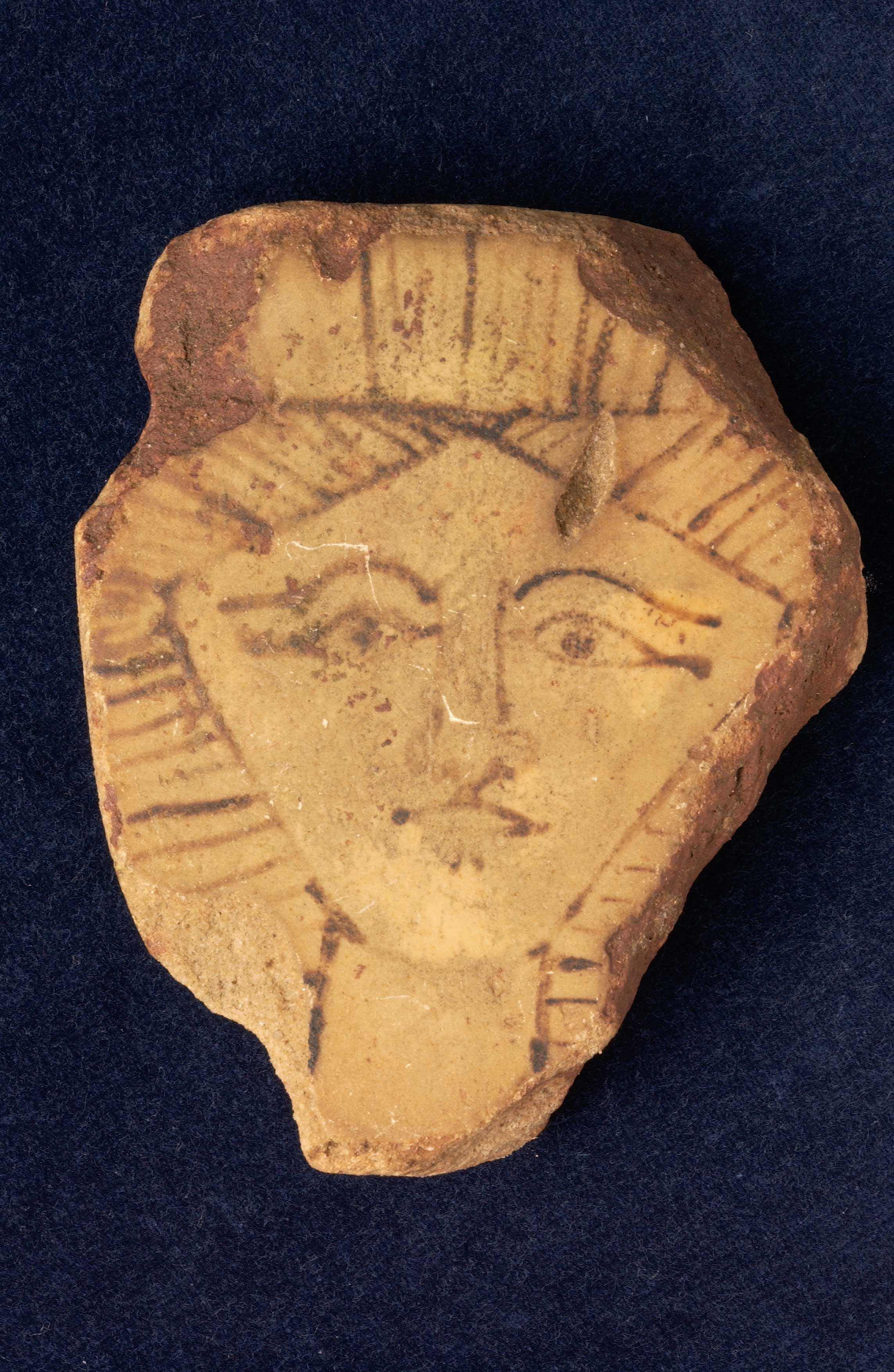 Hathor-head plaque