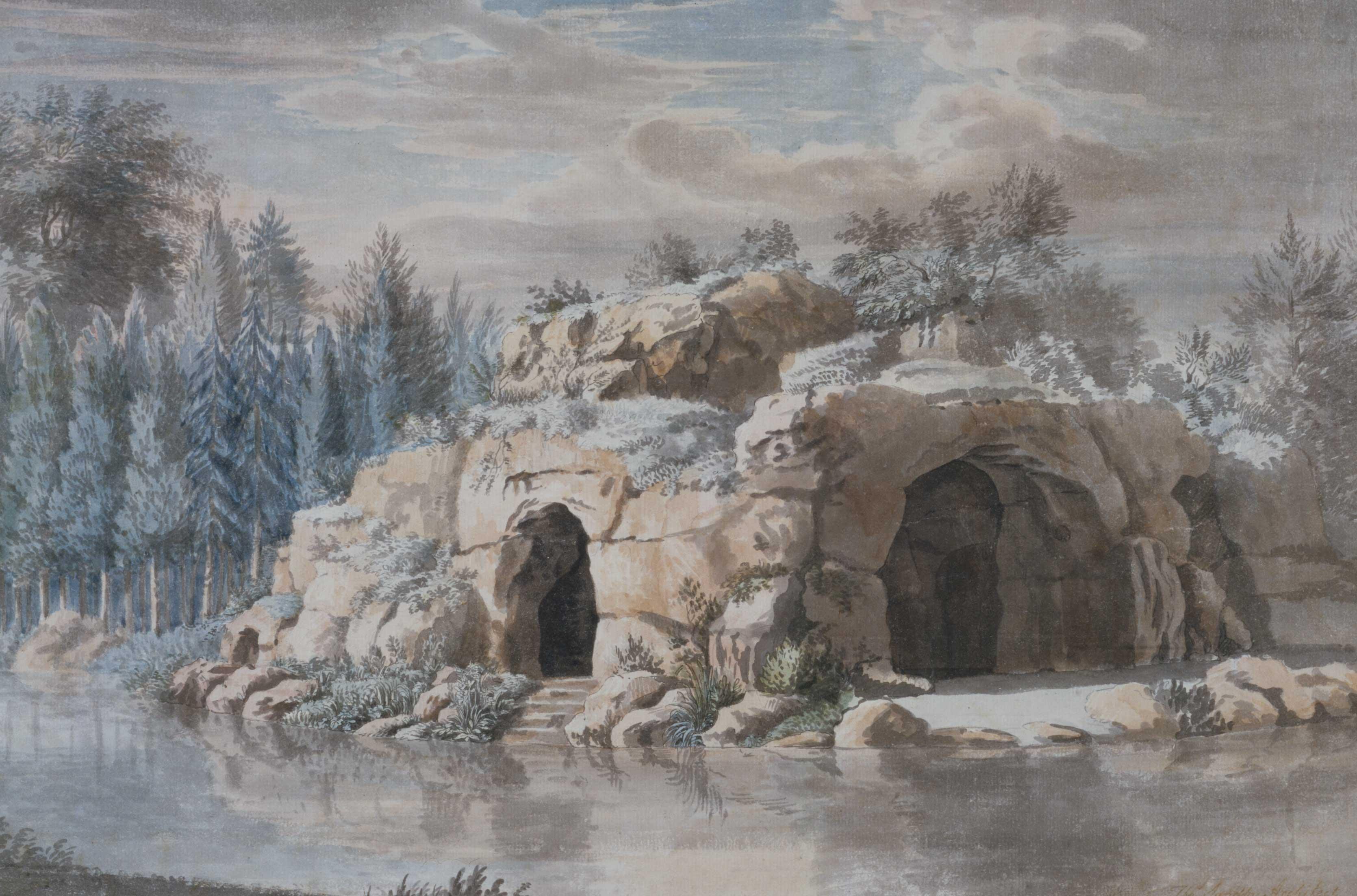 Sketch for an ornamental lake