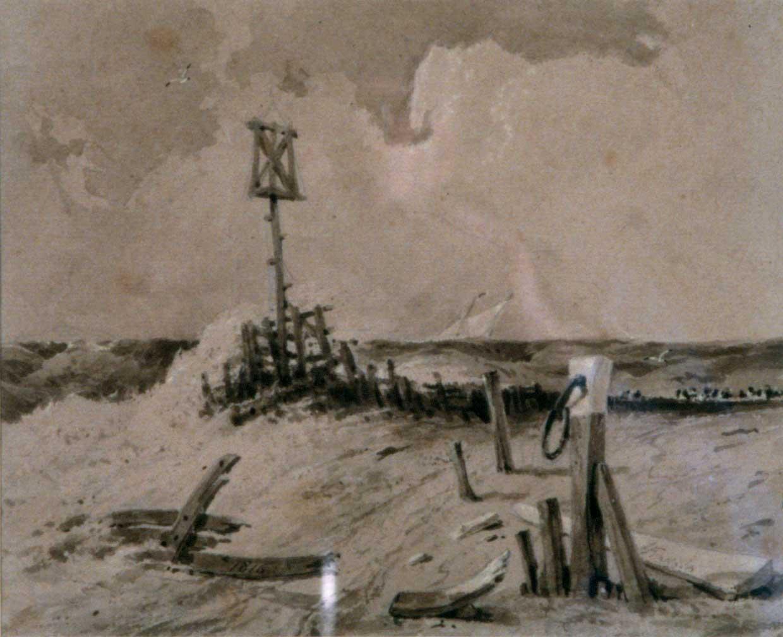 A groyne: coastal scene