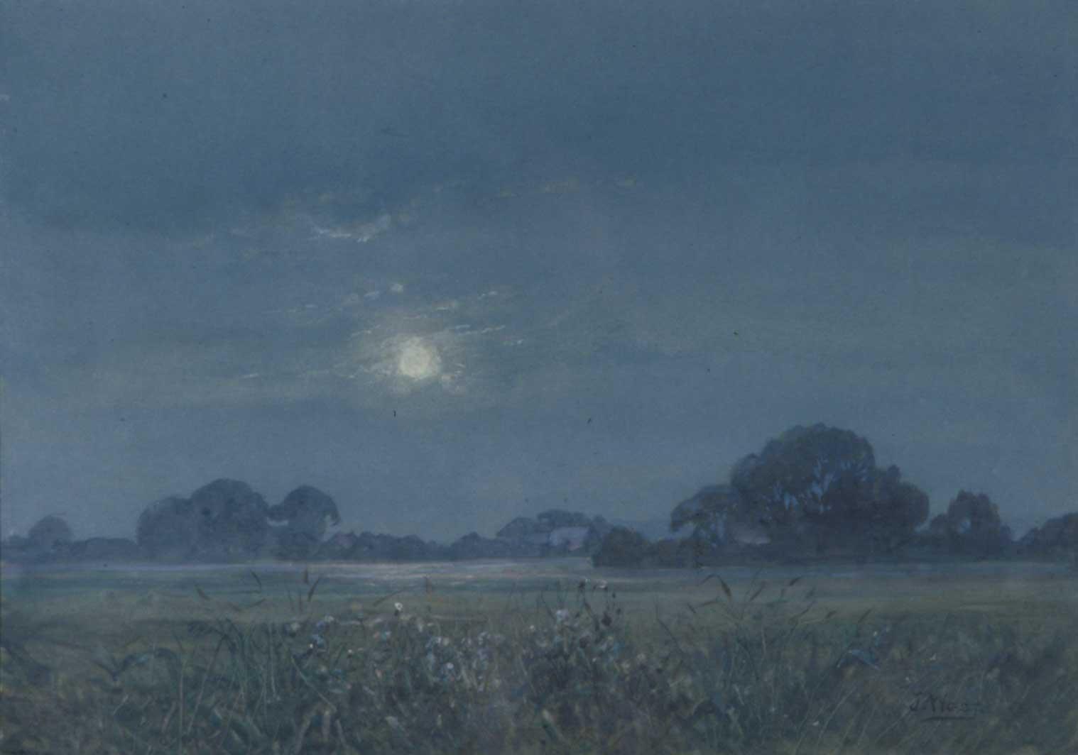 Moonlight, Norfolk Marshes
