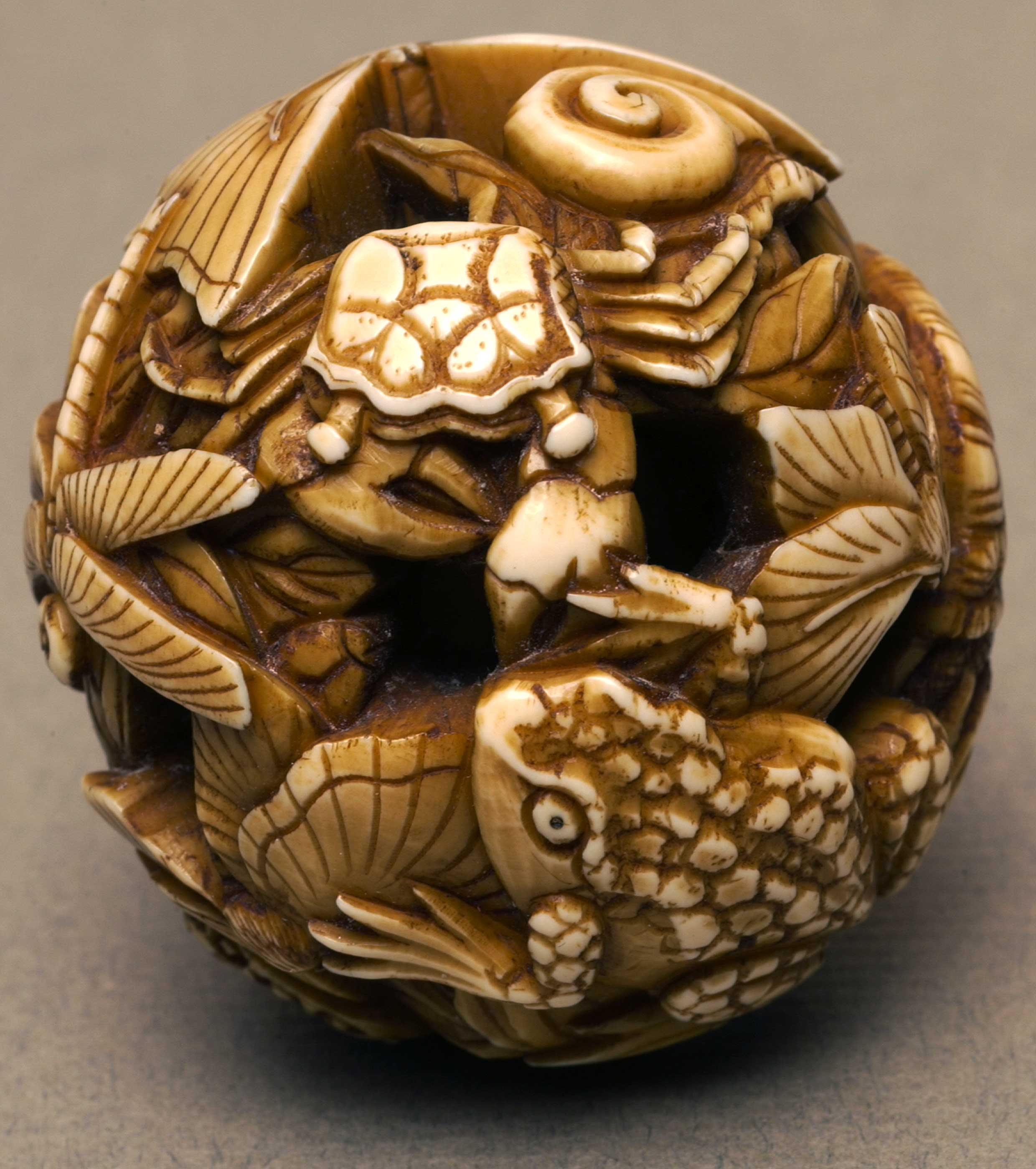 Carved netsuke ball