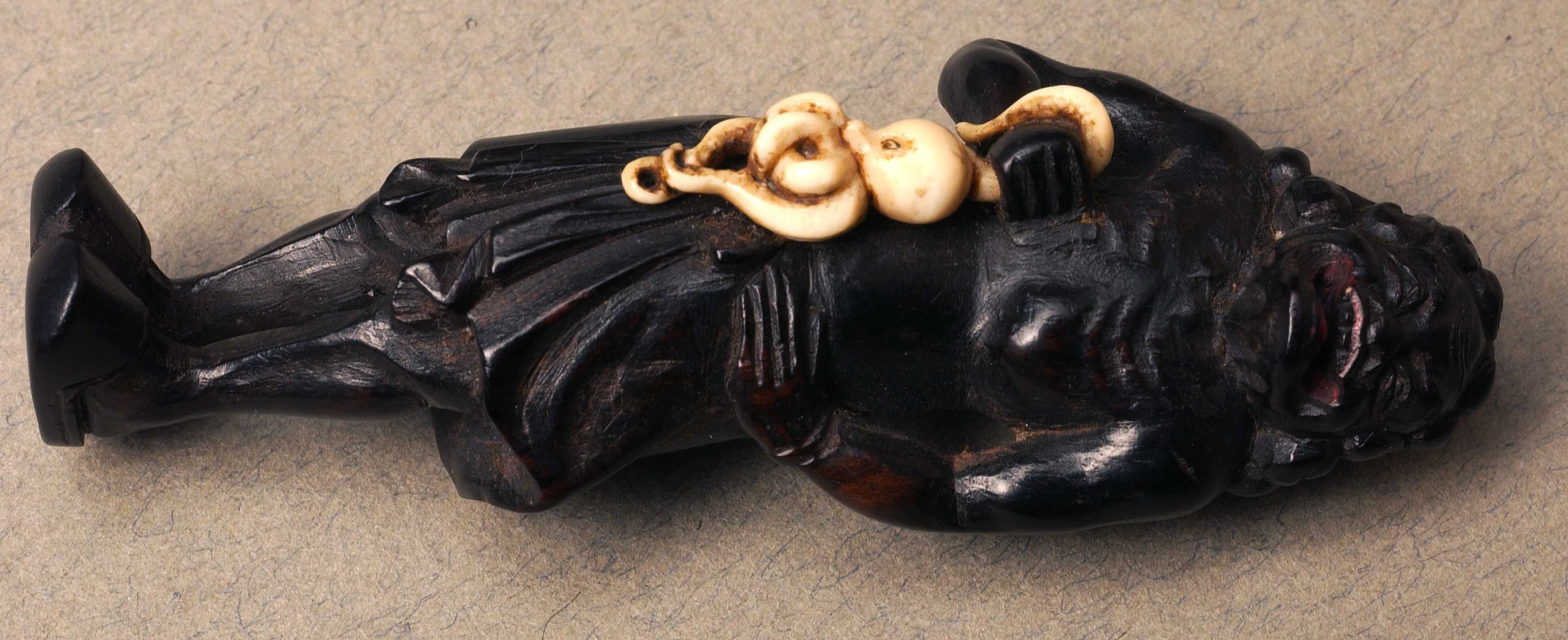 Netsuke with ivory detail