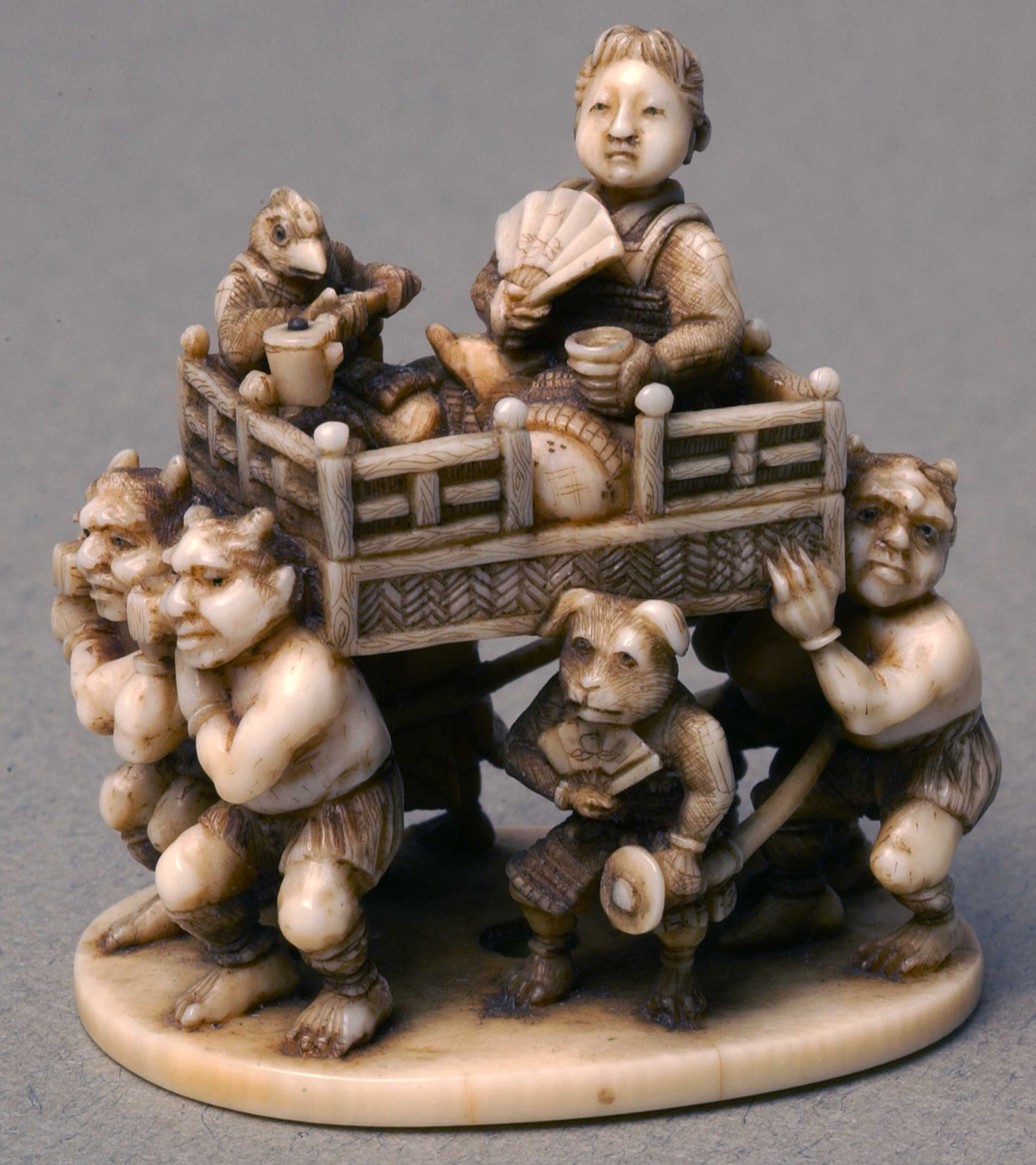 Netsuke depicting four demons
