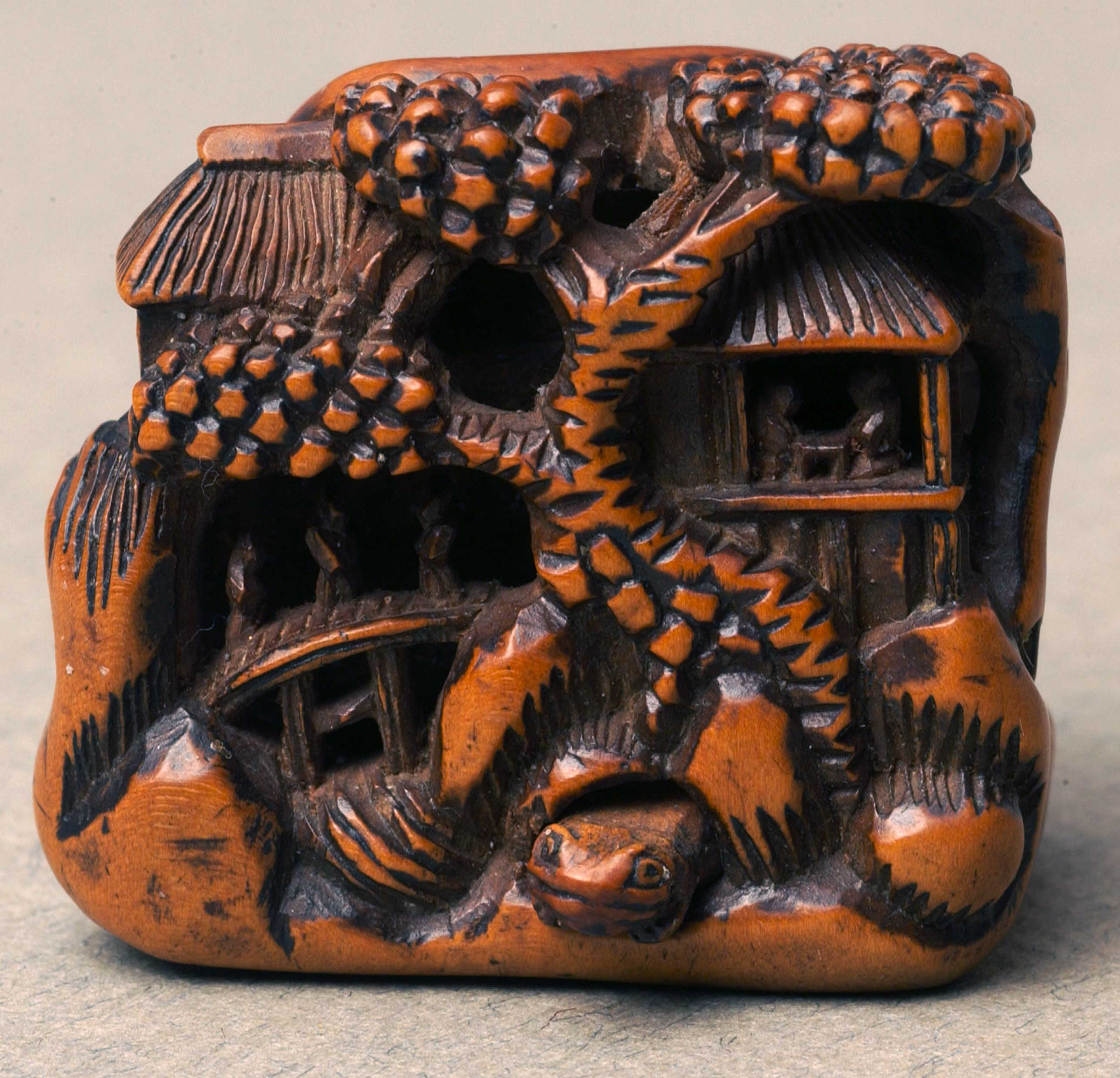 Netsuke depicting a house