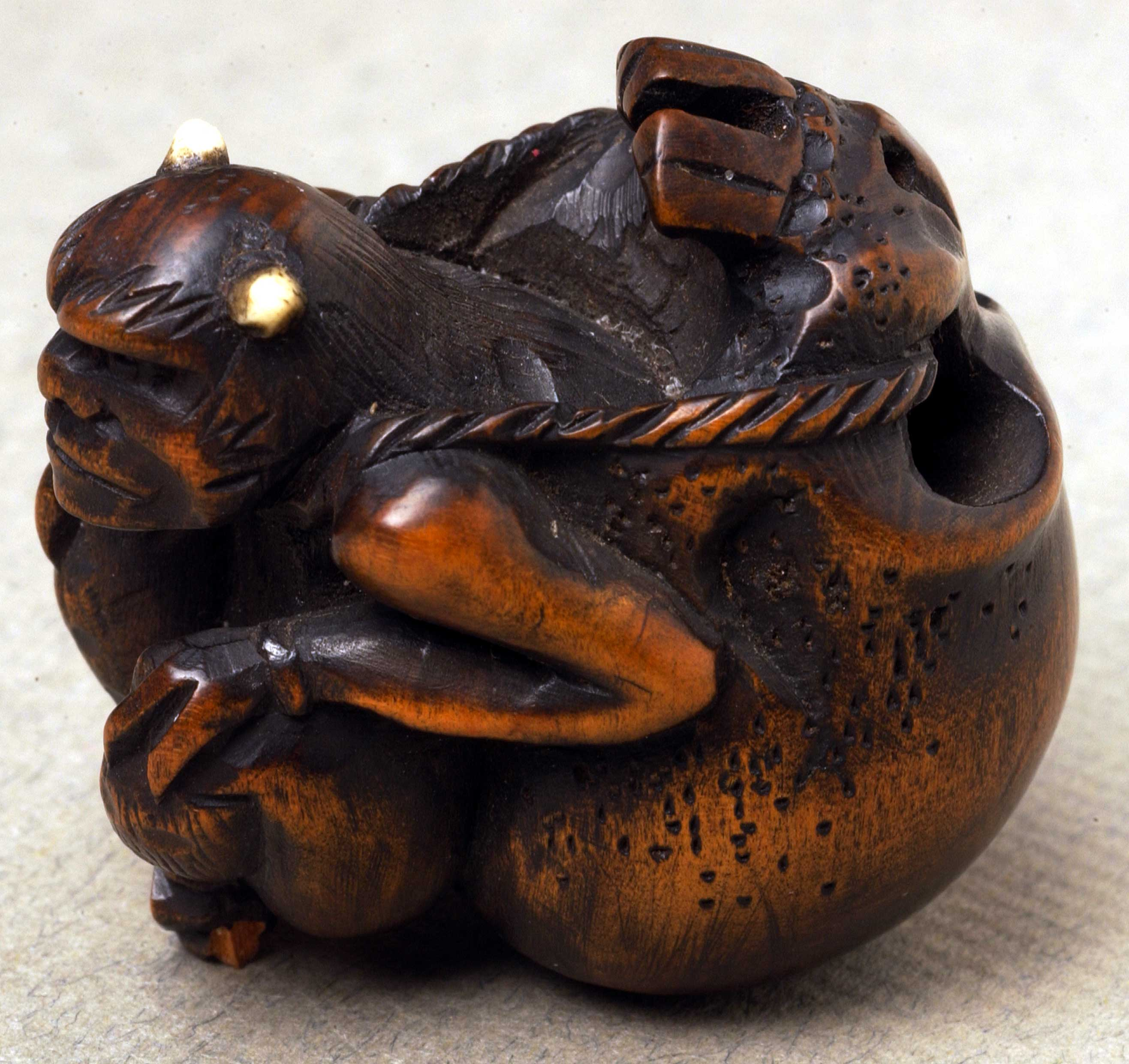 Netsuke depicting a demon