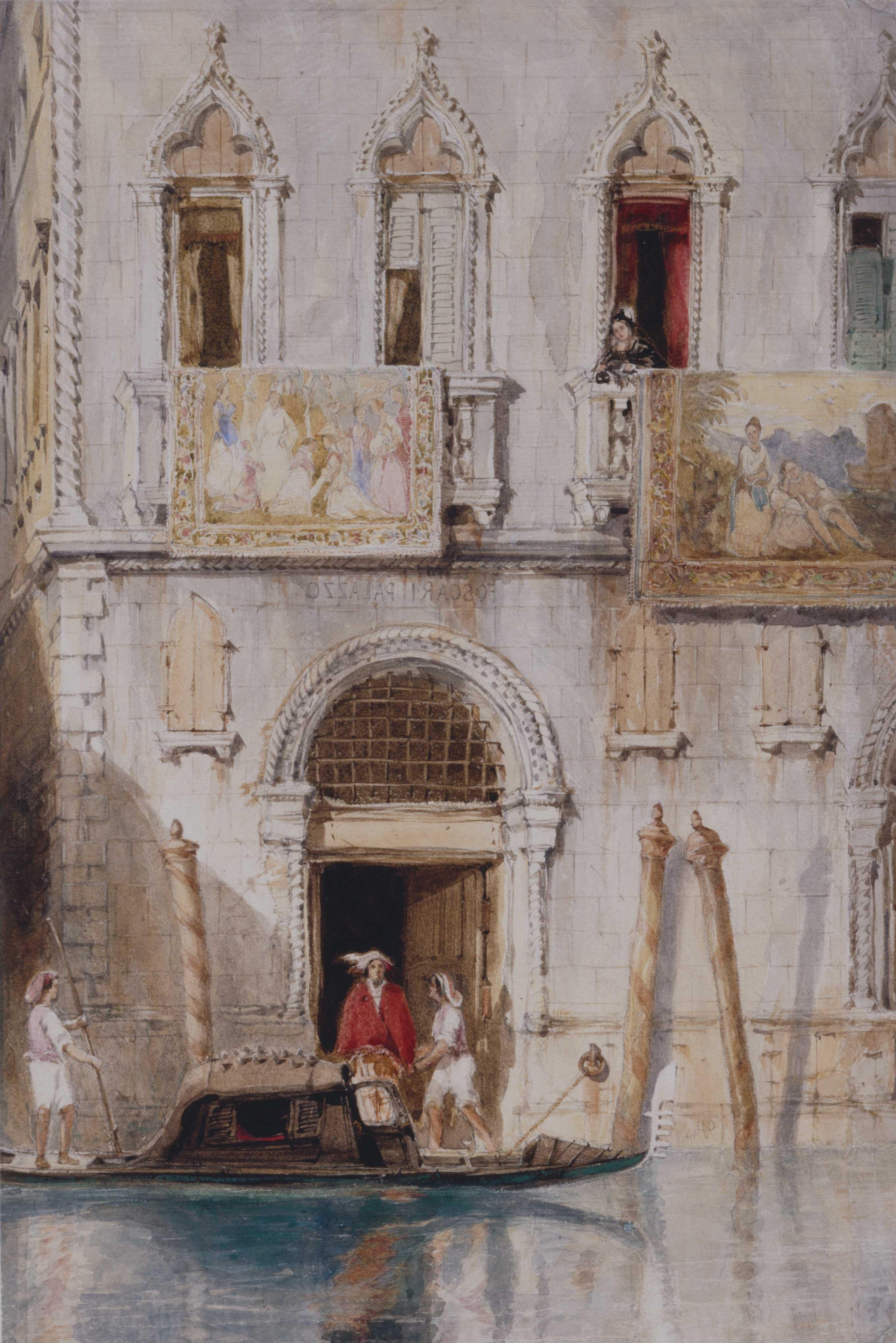 The steps of the Palazzo Foscari