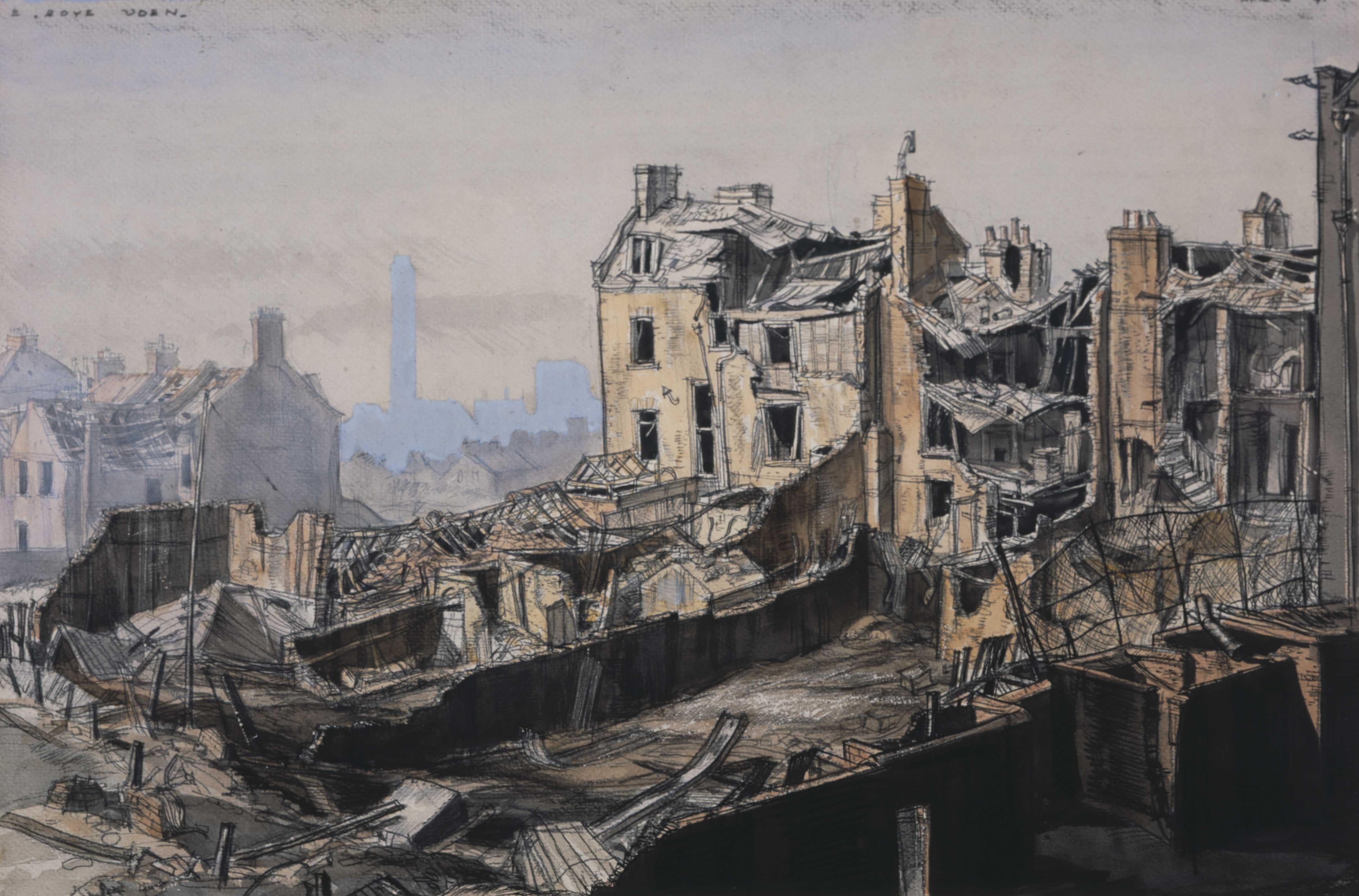 Land Mine-Blast, S.E. London