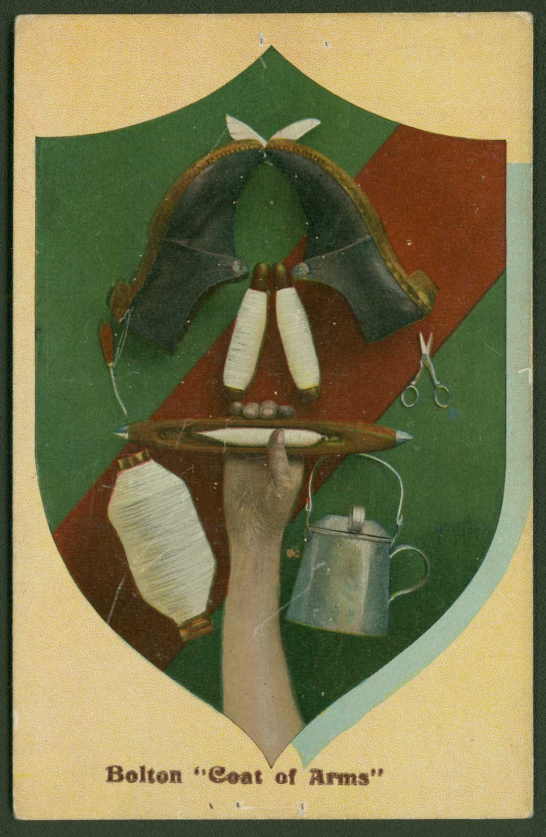 Bolton Coat of Arms postcard