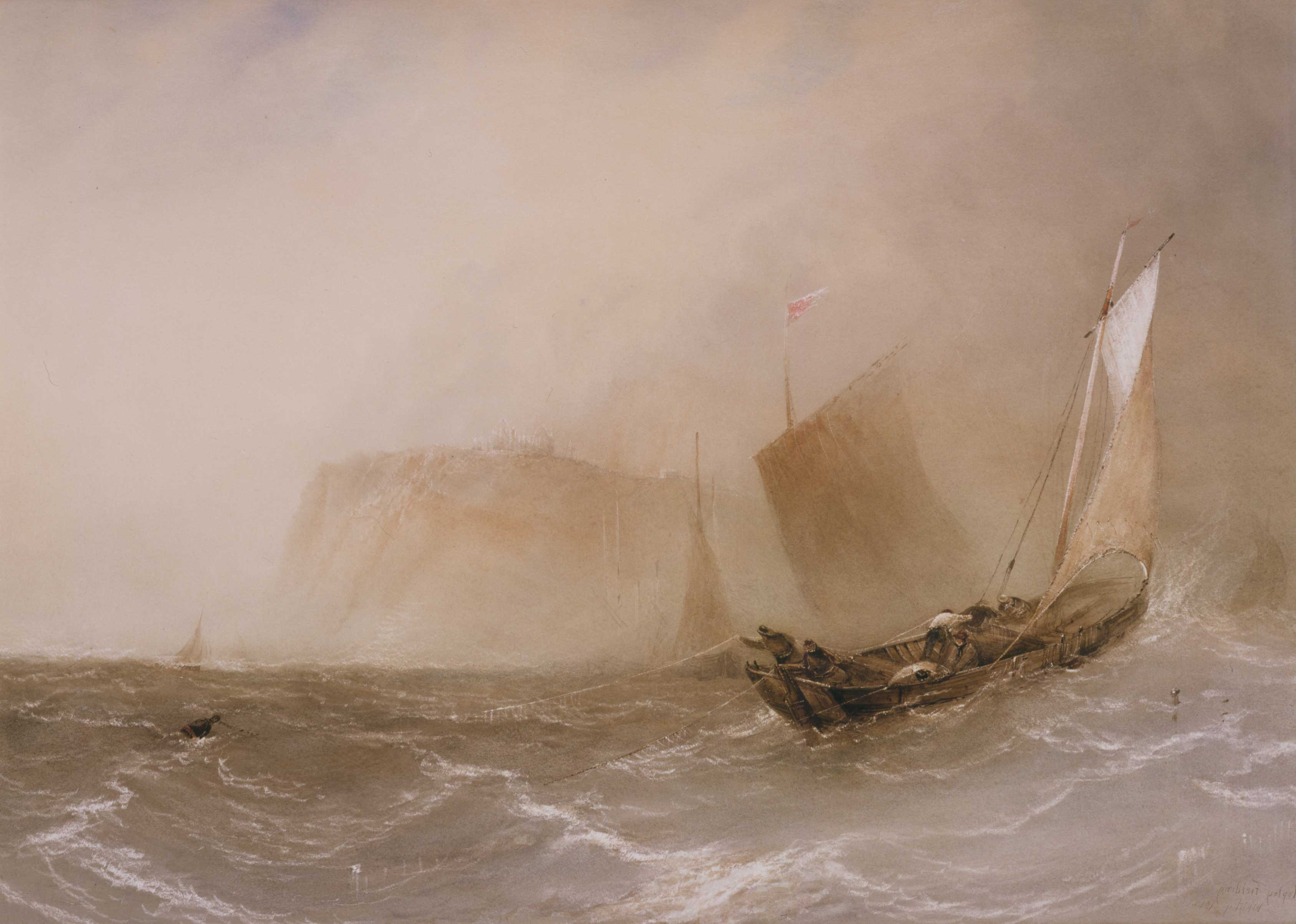 Seascape with Lugger