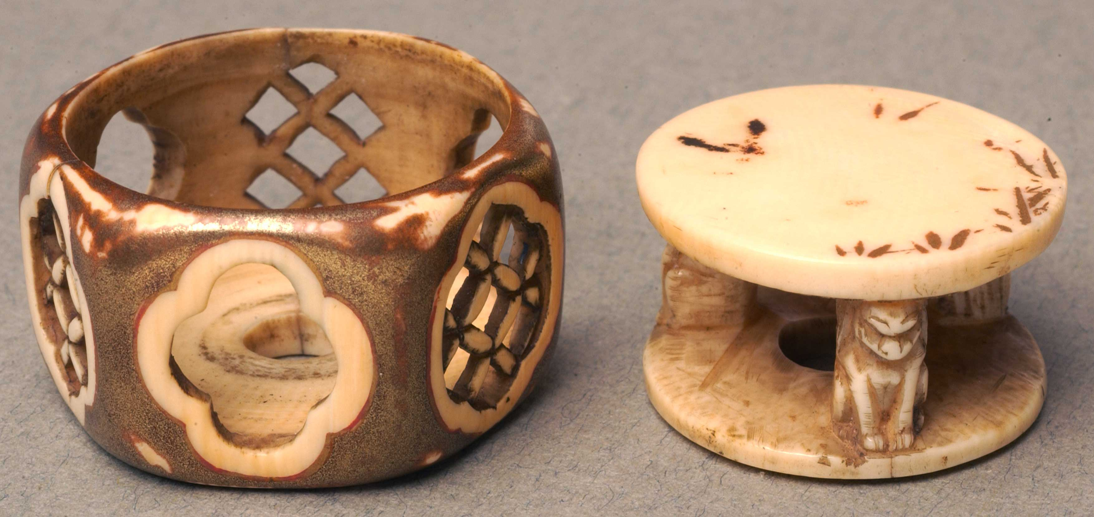 Netsuke in the form of a hexagon