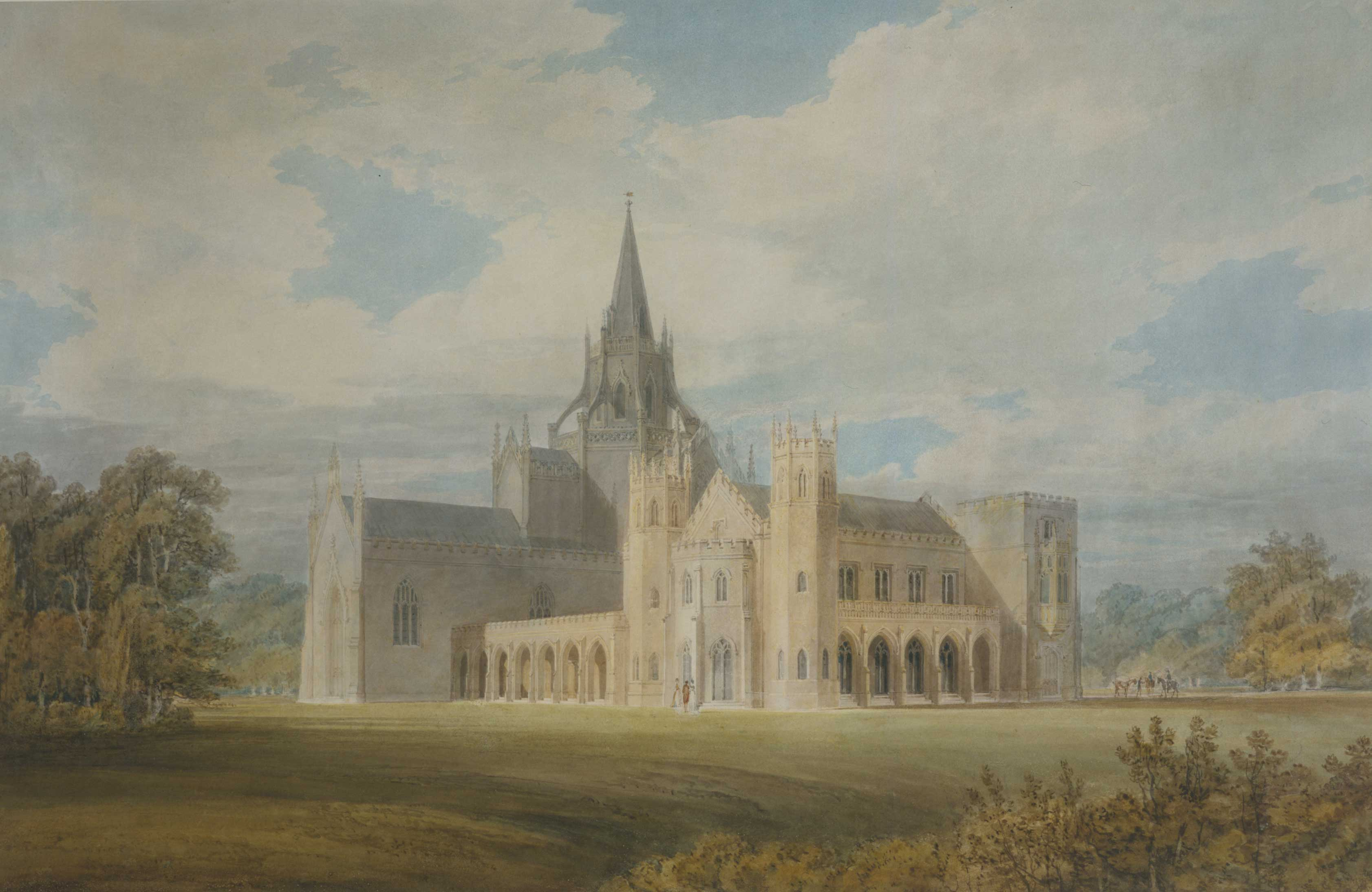 Perspective view of Fonthill Abbey
